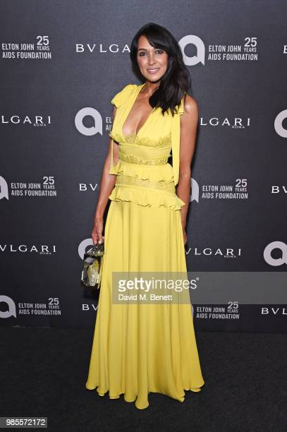 Jackie St Clair attends the Argento Ball for the Elton John AIDS Foundation in association with BVLGARI Bob and Tamar Manoukian on June 27 2018 in...