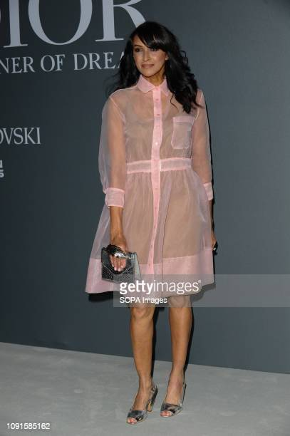 Jackie St Clair attends the Christian Dior Designer of Dreams fashion exhibition supported by Swarovski at the VA Museum London