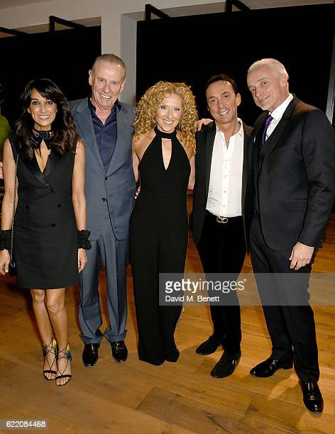 Jackie St Clair Carl Michaelson Kelly Hoppen Bruno Tonioli and John Gardiner attend the anniversary party for Kelly Hoppen MBE celebrating 40 years...