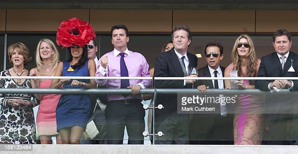 Jackie St Clair Simon Cowell Piers Morgan Bruno Tonioli And Daily Telegraph Columnist Celia Walden At Royal Ascot On The Second Day Of The 2009...