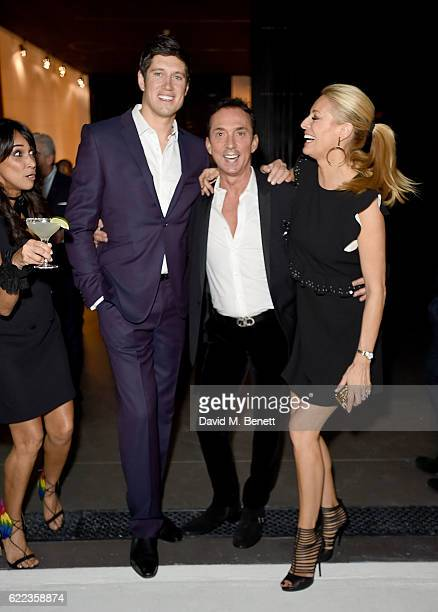 Jackie St Clair Vernon Kay Bruno Tonioli and Tess Day attend the anniversary party for Kelly Hoppen MBE celebrating 40 years as an Interior Designer...
