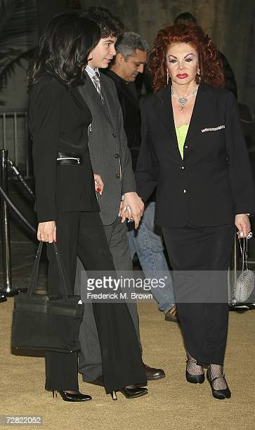 Jackie Stallone and her guest attend the world premiere of Rocky Balboa at Grauman's Chinese Theater on December 13 2006 in Hollywood California