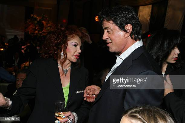 Jackie Stallone and Sylvester Stallone during MGM Pictures Columbia Pictures and Revolution Studios present the World Premiere of 'Rocky Balboa' at...