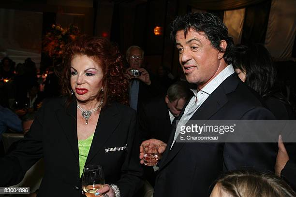 Jackie Stallone and Sylvester Stallone