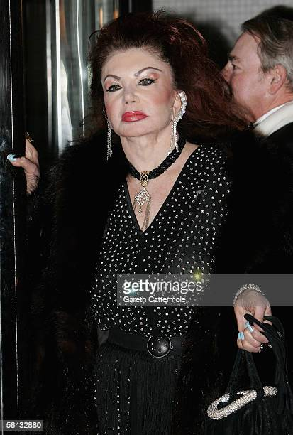 Jackie Stallone arrives at the British Comedy Awards 2005 at London Television Studios on December 14 2005 in London England