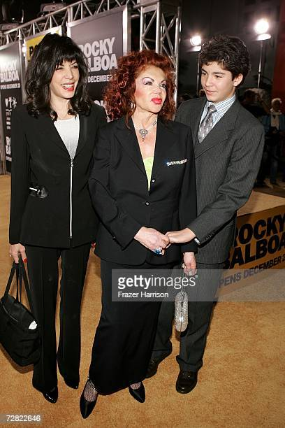 Jackie Stallone arrives at the premiere of MGM's Rocky Balboa at the Graumans Chinese Theater on December 13 2006 in Hollywood California