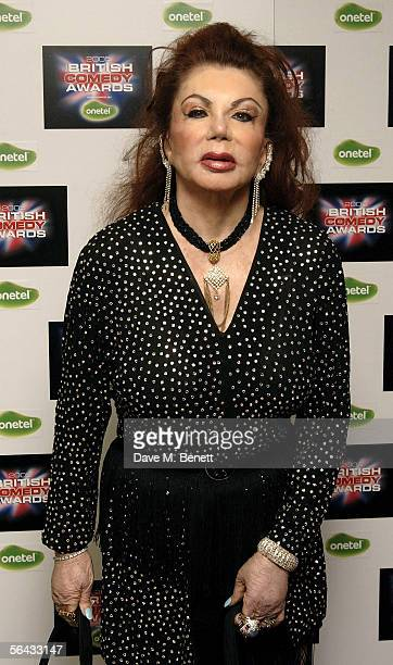 Jackie Stallone arrives for the British Comedy Awards 2005 at London Television Studios on December 14 2005 in London England
