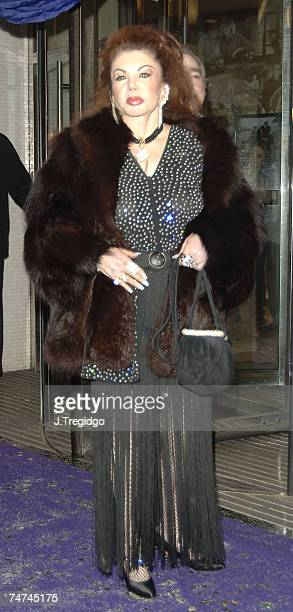 Jackie Stallone at the London Television Studios in London United Kingdom