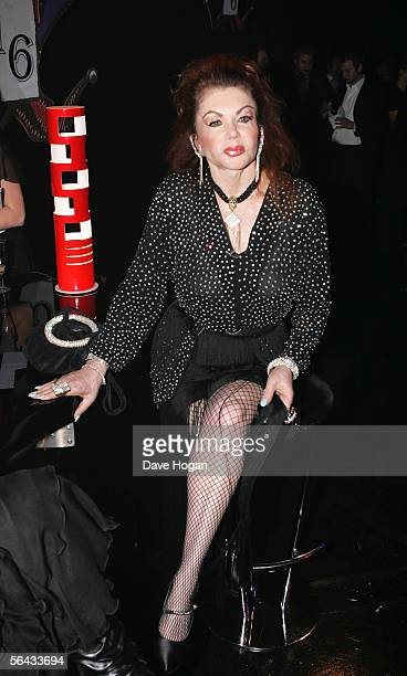 Jackie Stallone attends the aftershow party following the British Comedy Awards 2005 at London Television Studios on December 14 2005 in London...