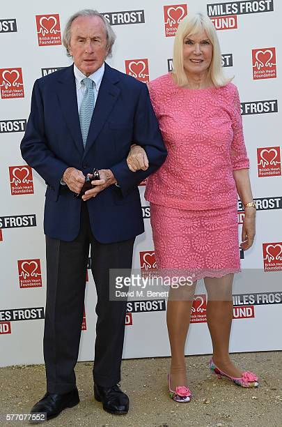 Jackie Stewart and Helen Stewart attend The Frost family final Summer Party to raise money for the Miles Frost Fund in partnership with the British...