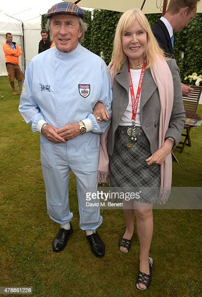 Jackie Stewart and Helen Stewart attends the Carter Style Luxury Lunch at the Goodwood Festival of Speed on June 28 2015 in Chichester England