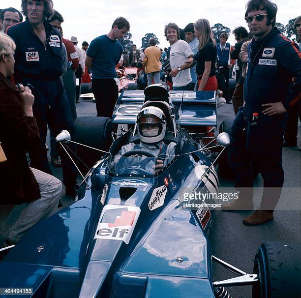Jackie Stewart at the wheel of a racing car driving for Tyrrell c1971c1973 Stewart began his Formula 1 career in 1965 winning the Italian Grand Prix...