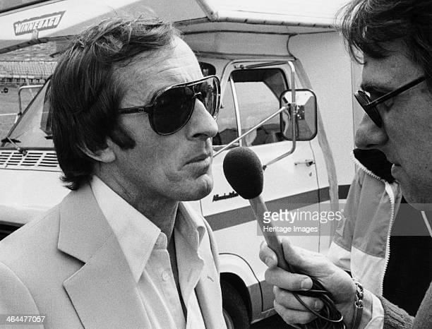 Jackie Stewart being interviewed 1980 Scottish motor racing driver Jackie Stewart began his Formula 1 career in 1965 winning the Italian Grand Prix...