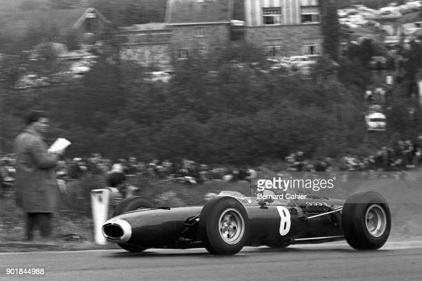 Jackie Stewart BRM P261 Grand Prix of Belgium Circuit de SpaFrancorchamps 13 June 1965 Jackie Stewart on the way to second place in the 1965 Grand...