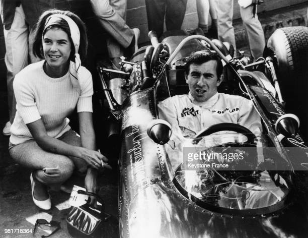 Jackie Stewart et sa femme Helen au grand prix de Monaco en 1966