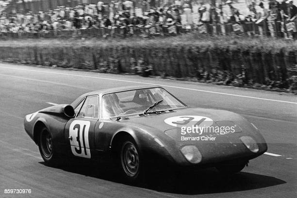 Jackie Stewart Graham Hill RoverBRM 24 Hours of Le Mans Le Mans June 20 1965 Jackie Stewart in the turbine powered RoverBRM which he shared with...