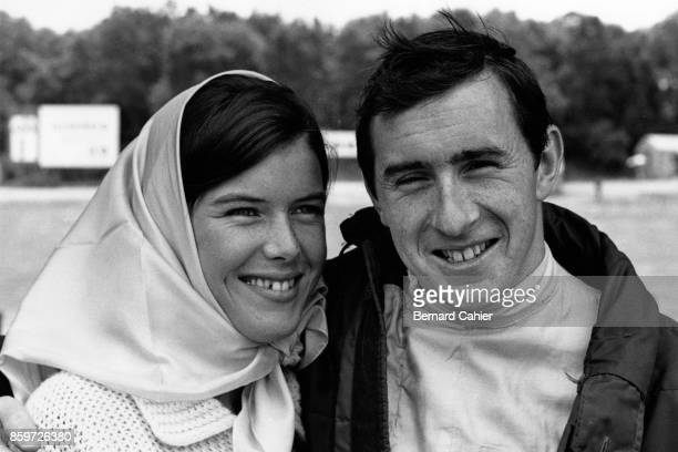 Jackie Stewart Helen Stewart BRM P261 Grand Prix of Great Britain Silverstone Circuit July 10 1965