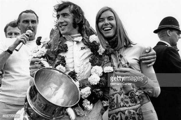 Jackie Stewart Helen Stewart Grand Prix of Great Britain Silverstone Circuit July 19 1969
