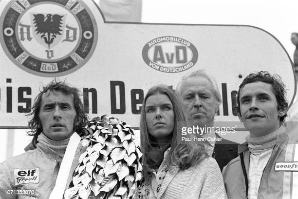 Jackie Stewart Helen Stewart Prince Metternich Jacky Ickx Grand Prix of Germany Nurburgring 05 August 1973 Jackie Stewart with his wife Helen Stewart...