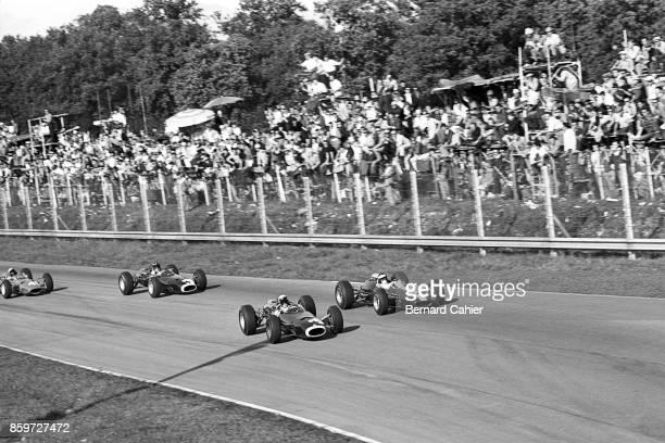 Jackie Stewart Jim Clark Graham Hill Lorenzo Bandini BRM P261 Lotus Climax 33 Ferrari 1512 Grand Prix of Italy Autodromo Nazionale Monza September 12...