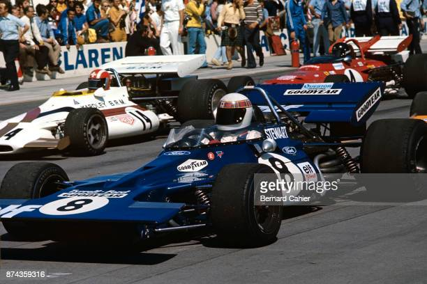 Jackie Stewart Jo Siffert Jacky Ickx TyrrellFord 00 BRM P160 Ferrari 312B Questor Grand Prix Ontario Motor Speedway California 28 March 1971 Jackie...
