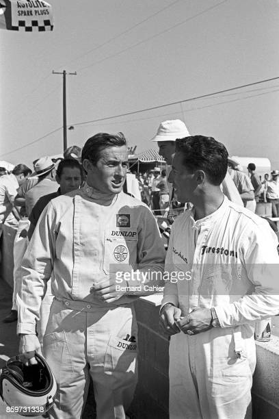 Jackie Stewart Mario Andretti Los Angeles Times Grand Prix Riverside 200 Miles Riverside October 31 1965 Two future World Champions Jackie Stewart...