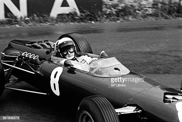Jackie Stewart racing in his BRM P261 enters La Source hairpin at Spa Francorchamps Belgium 13 June 1965