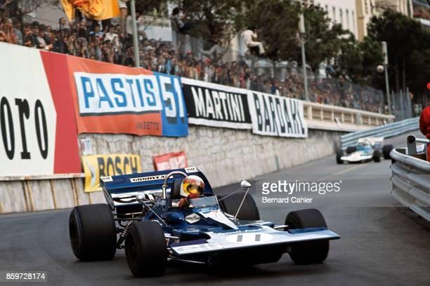 Jackie Stewart Rolf Stommelen TyrrellFord 003 Grand Prix of Monaco Circuit de Monaco May 23 1971