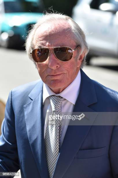 Jackie Stewart seen outside Wimbledon AELTC on July 2 2018 in London England