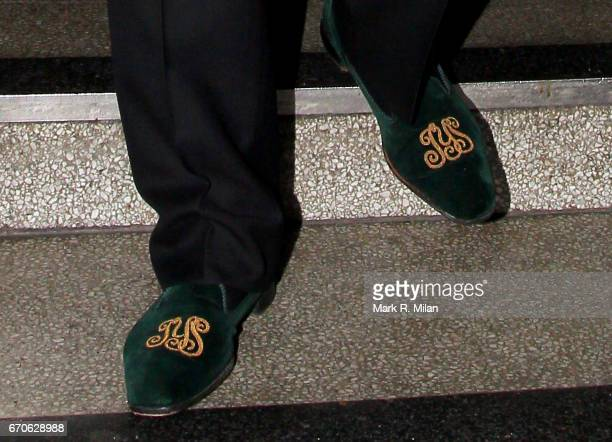 3f407ea85932 Jackie Stewart shoe detail departs after a performance by jazz legend Tony  Bennett at a private