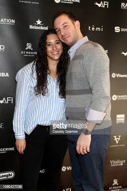 Jackie Strause East Coast Digital Lead Editor Of The Hollywood Reporter and Alex Reiff Vice President Of RAND Luxury attend Tangerine Entertainment's...