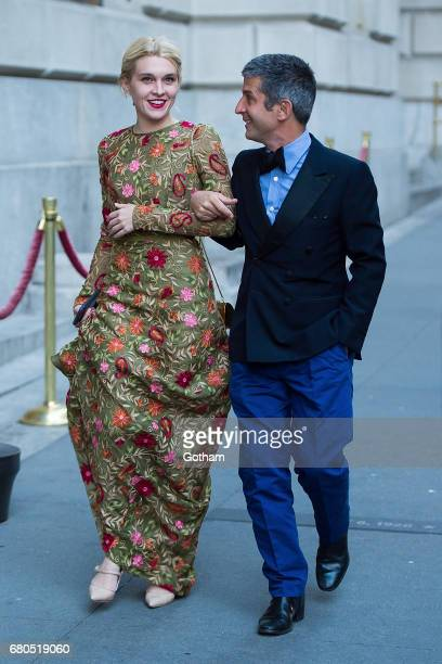 Jackie Swerz and Andre Saraiva are seen in Tribeca on May 8 2017 in New York City