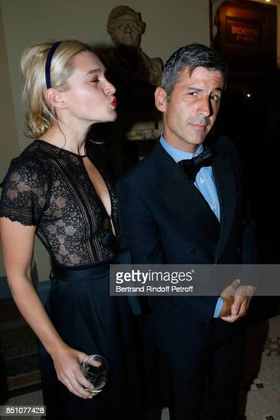 Jackie Swerz and Andre Saraiva attend the Opening Season Gala Ballet of Opera National de Paris Held at Opera Garnier on September 21 2017 in Paris...