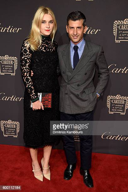 Jackie Swerz and Andre Saraiva attends the Cartier Fifth Avenue Grand Reopening Event at the Cartier Mansion on September 7 2016 in New York City