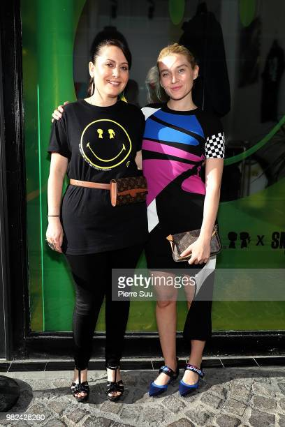 Jackie Swerz and Stacy Igel attend the Boy Meets Girl Black Label X Smiley Original as part of Paris Fashion Week on June 23 2018 in Paris France