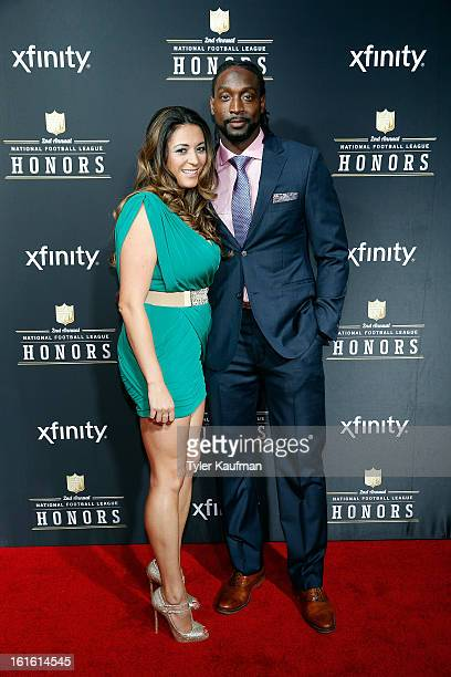 Jackie Tillman and NFL player Charles Tillman attends the 2nd Annual NFL Honors at the Mahalia Jackson Theater on February 2 2013 in New Orleans...
