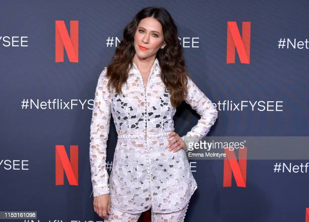 Jackie Tohn attends the Netflix FYSEE Glow ATAS Official Red Carpet and Panel at Raleigh Studios on June 01 2019 in Los Angeles California