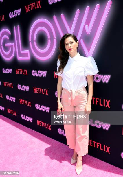 Jackie Tohn attends the Netflix Original Series GLOW 80's Takeover Of Muscle Beach on June 29 2018 in Venice California