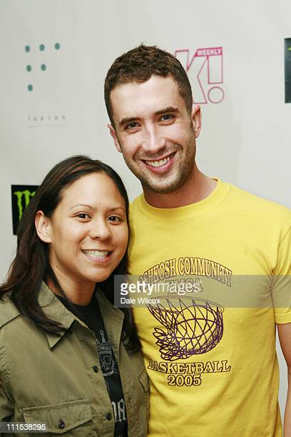 Jackie Topacio and Ben Russo during Shane West and Eric Podwall's Birthday Party June 25 2006 at Skybar in Hollywood California United States