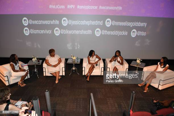 Jackie Walters Tamika Felder Linda Blount Jessica Shepherd and Renee Elise Goldsberry at 'The Immortal Life Of Henrietta Lacks' Viewing Panel...