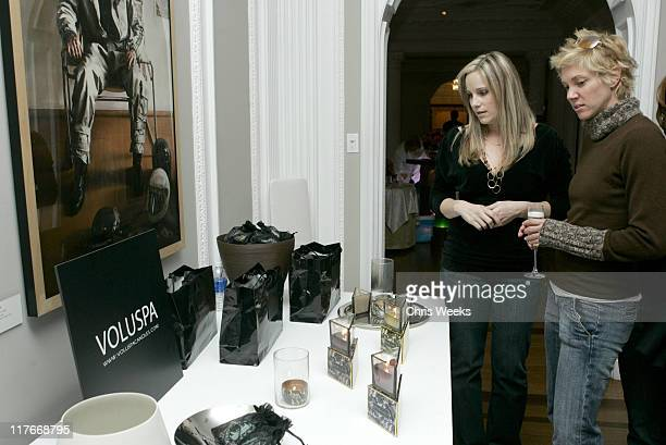 Jackie Warner and guest at Voluspa during 2007 Silver Spoon PreOscar Suite Day 2 at Beverly Wilshire Hotel in Los Angeles California United States...