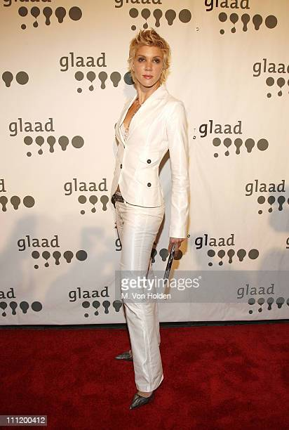 Jackie Warner during 18th Annual GLAAD Media Awards New York Red Carpet at Marriott Marquis in New York City New York United States