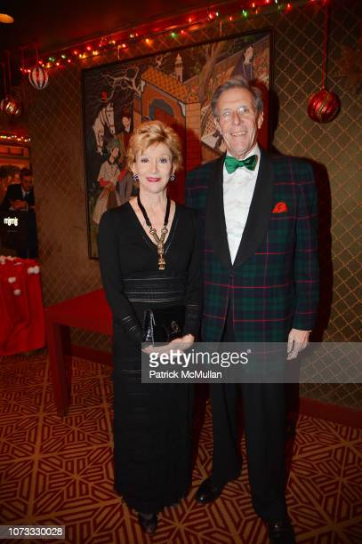 Jackie Weld Drake and RichardLewison attend George Farias Anne Jay McInerney Host A Holiday Party at The Doubles Club on December 13 2018 in New...
