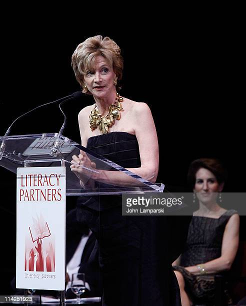 Jackie Weld Drake attends Literacy Partners' 27th annual Evening of Readings gala at David H Koch Theater Lincoln Center on May 16 2011 in New York...