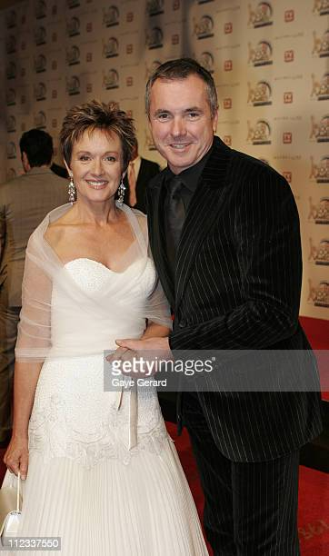 Jackie Woodburne and Allen Fletcher during 2006 TV Week Logie Awards Arrivals at Crown Casino in Melbourne VIC Australia
