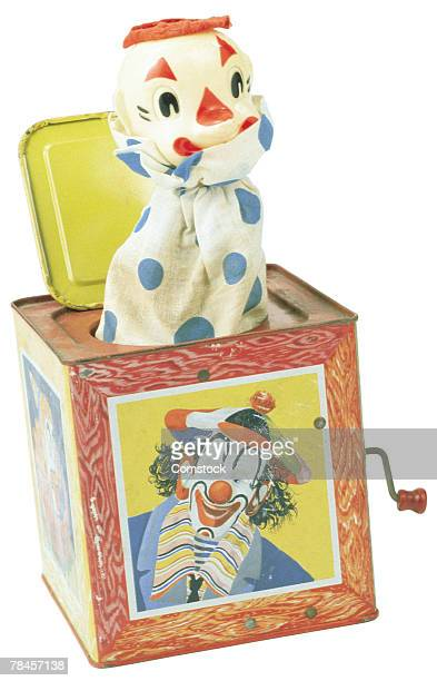 jack-in-the-box toy - jack in the box stock photos and pictures