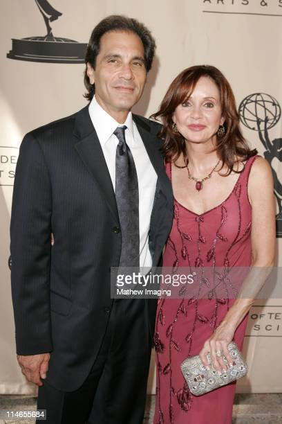 Jacklyn Zeman and husband during 57th Annual Los Angeles Area Emmy Awards Arrivals Reception at Leonard H Goldenson Theatre in North Hollywood...