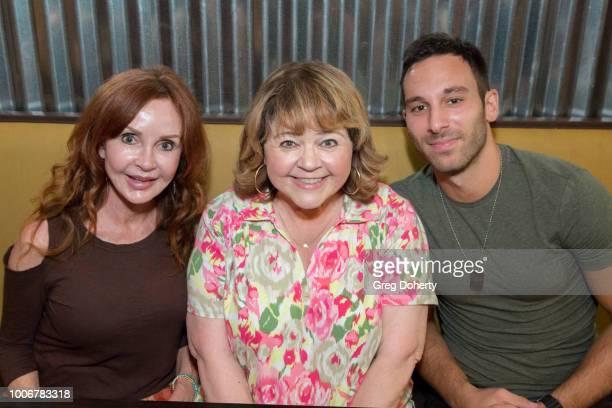 Jacklyn Zeman Patrika Darbo and Jake Hunter attend 'The Bay' Cast Host Fan Appreciation Event on July 27 2018 in Glendale California