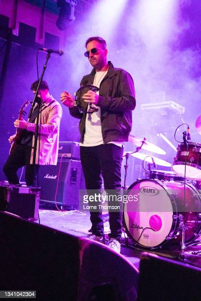 Jacko of The Crooks performs at O2 Academy Islington on September 17, 2021 in London, England.