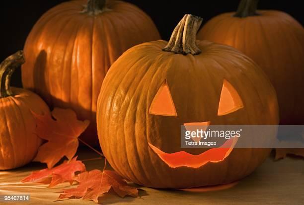 jack-o-lantern - halloween pumpkin stock photos and pictures